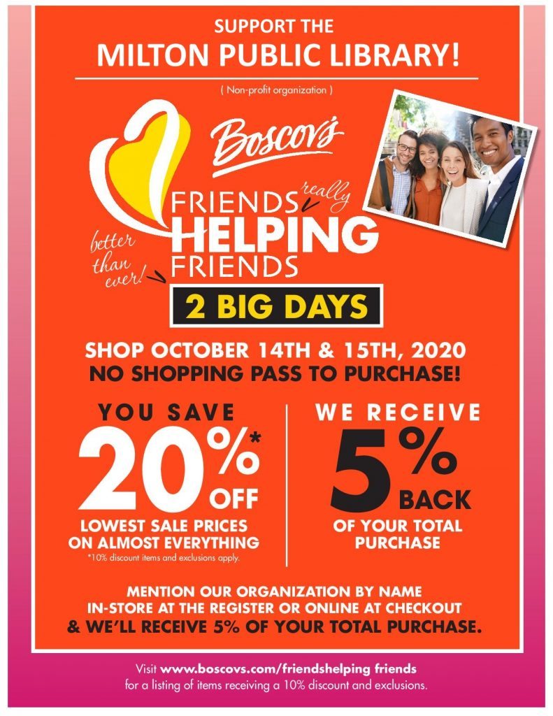 Friends Helping Friends Fundraiser at Boscov's