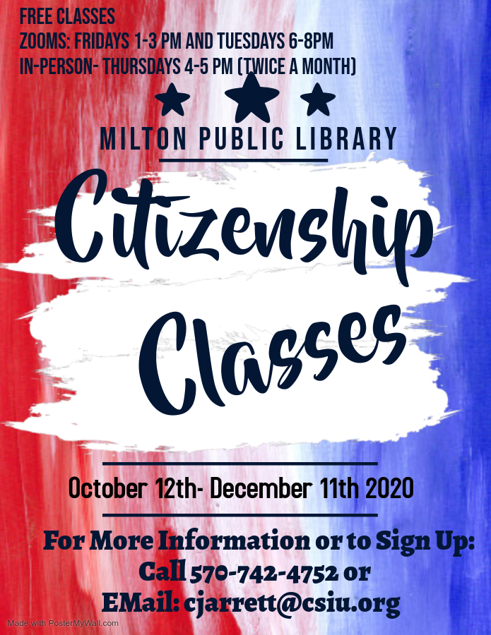Citizenship Classes (At the Library)
