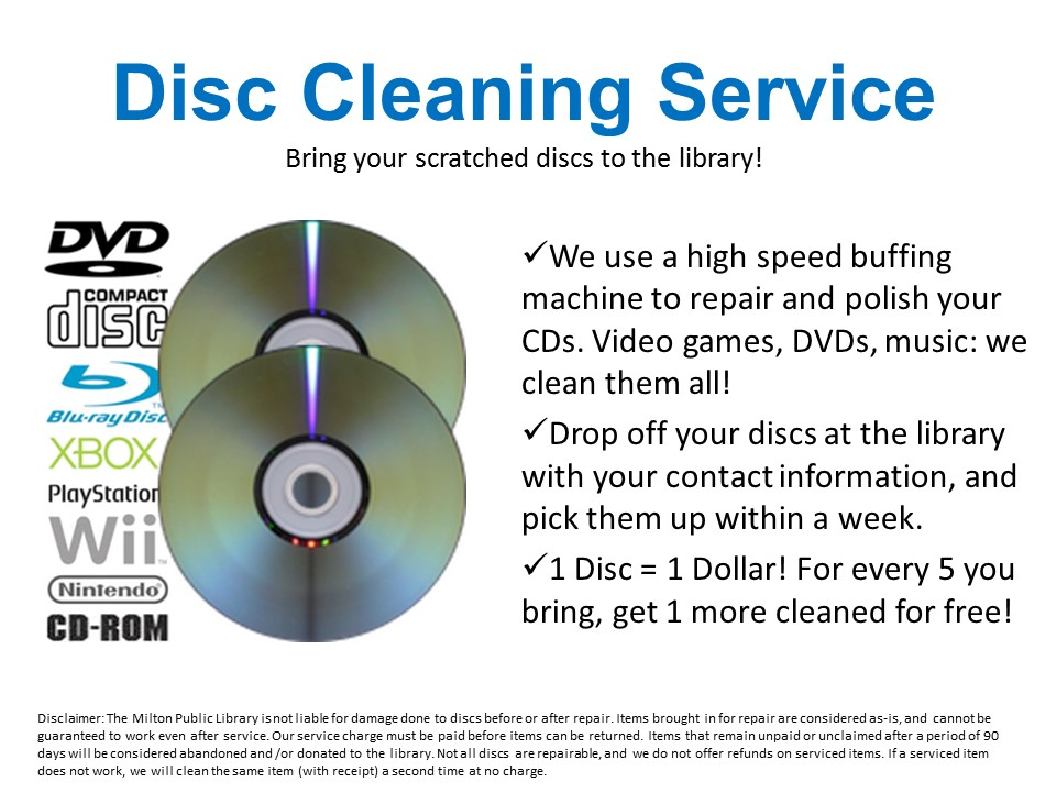Disc Cleaning Service
