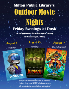 Outdoor Movie Night (Cancelled 8/10)
