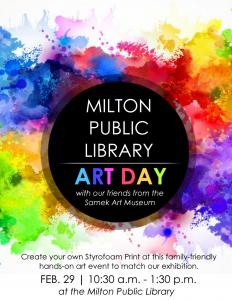 Milton Library Art Day