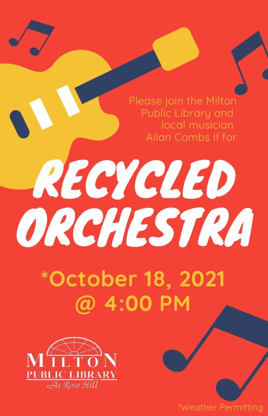 recycled orchestra flyer